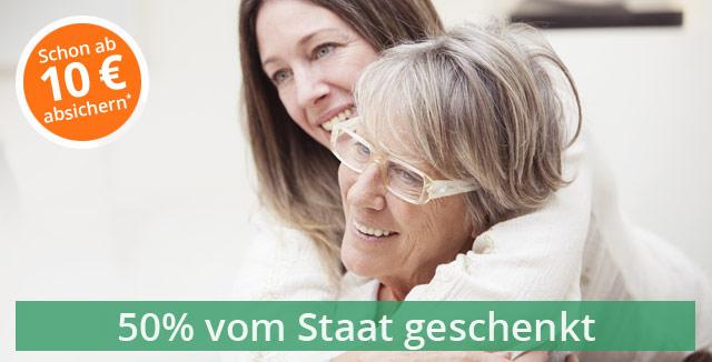 Schon ab 10 Euro/mtl. absichern - 50% vom Staat geschenkt